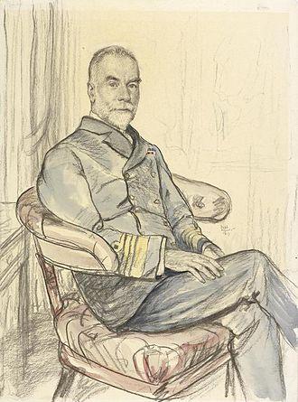 Alexander Bethell - 1917 portrait by Francis Dodd