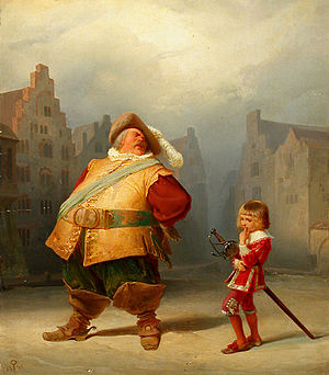 Falstaff - Adolf Schrödter: Falstaff and his page