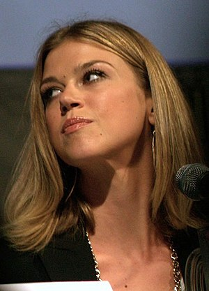 Adrianne Palicki promoting the 2010 film Legio...