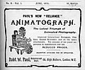 Advertisement for Paul's Animatograph 1905.jpg