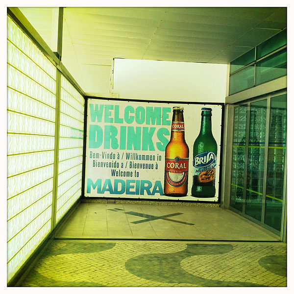 Advertisement in Madeira Airport