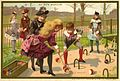 Advertising card depicting children playing croquet (14173650367).jpg
