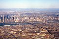 Aerial of New Jersey, Hudson River, Manhattan, Roosevelt Island, East River, Queens, 1981.jpg