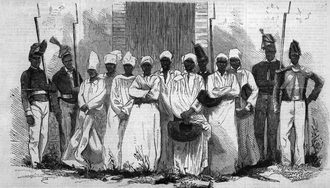 Fabre Geffrard - The eight Voodoo devotees found guilty in 1864 of the murder and eating of a 12-year-old girl.
