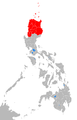 Affected Philippine provinces by typhoon Bilis 2006.png