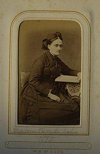 A Carte De Visite Photo Of His Daughter Agnes Louisa Madame Pierre Salis 1837 1916 In 1875