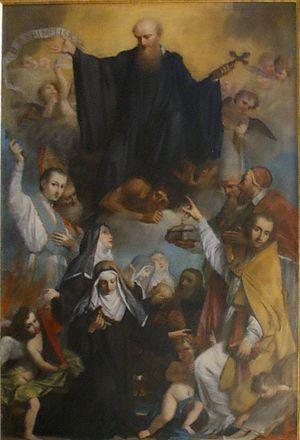 Agostino Veracini - Saint John Gualbert Crushing Simony and Nicolaitism by Agostino Veracini, 1744