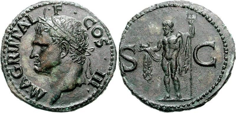 Agrippa Neptunus coin