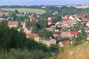 Ahlsdorf - Image: Ahlsdorf, view to the village