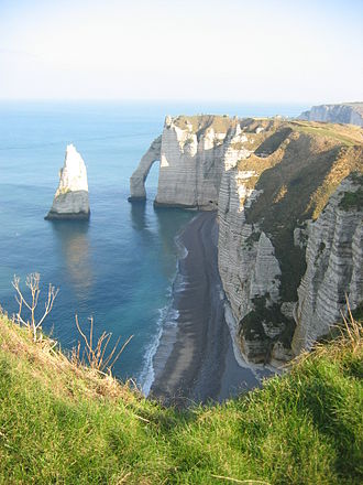 Pays de Caux - Étretat, falaise d'aval and the needle