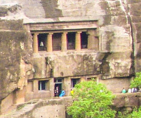 Ajanta Cave 6 Outside