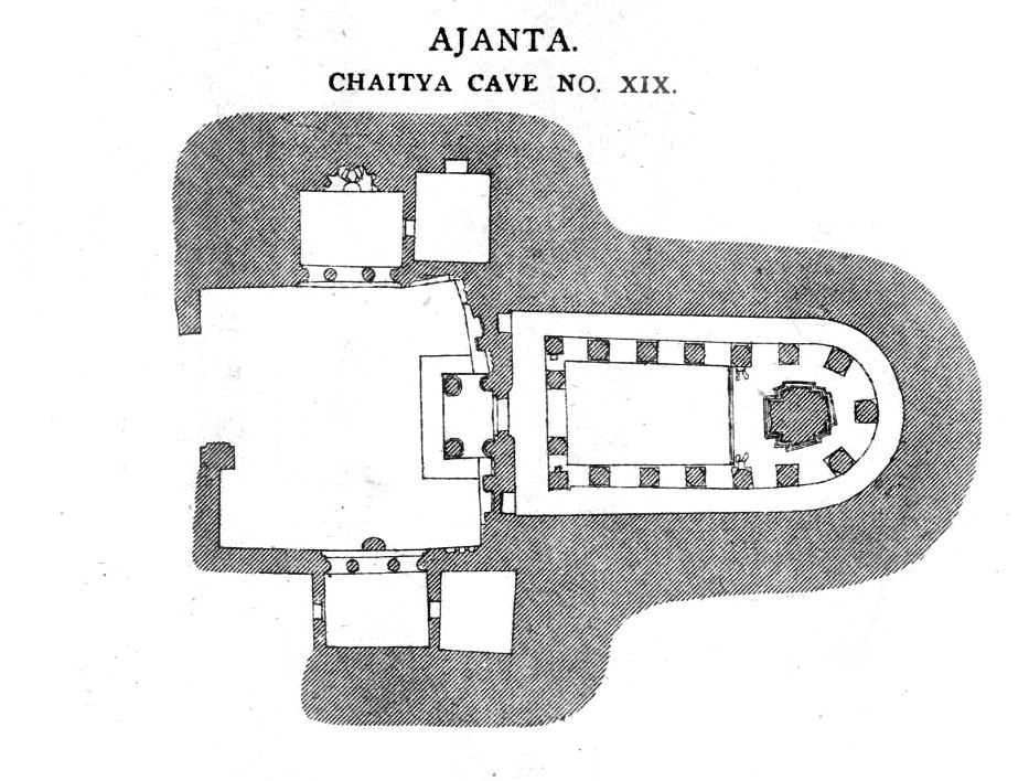 Ajanta cave 19 plan