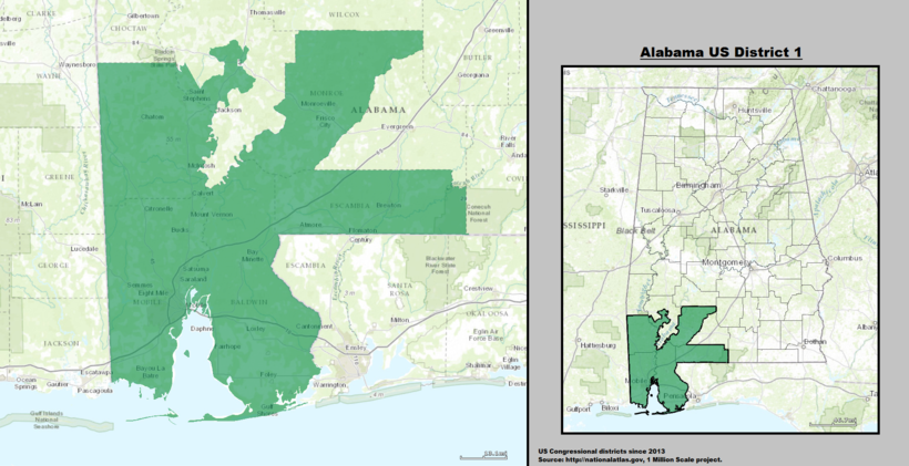 United States Congressional Delegations From Alabama Wikiwand - Us house of representatives map