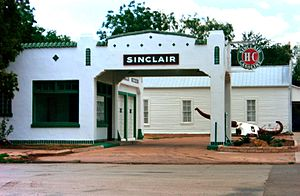 Sinclair Oil Corporation - A restored Sinclair station in Albany, Texas
