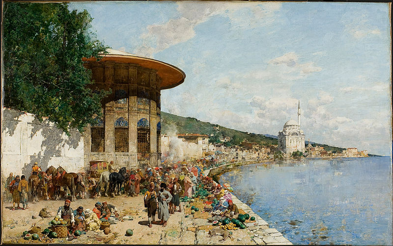 File:Alberto Pasini - Market Day in Constantinople - Google Art Project.jpg
