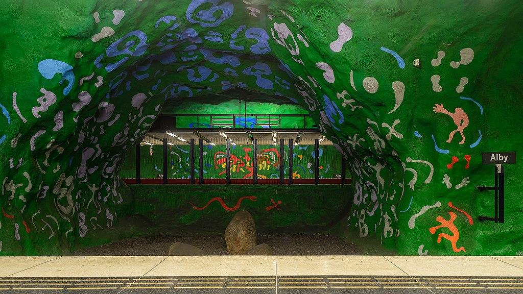 Alby metro station September 2014 01.jpg