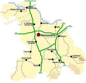 Province of Alessandria - Image: Alessandria map