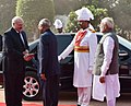 Alexander Lukashenko being received by the President, Shri Ram Nath Kovind and the Prime Minister, Shri Narendra Modi, at the Ceremonial Reception, at Rashtrapati Bhavan, in New Delhi.jpg