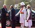 Alexander Lukashenko being received by the President, Shri Ram Nath Kovind and the Prime Minister, Shri Narendra Modi, at the Ceremonial Reception, at Rashtrapati Bhavan, in New Delhi.jpg