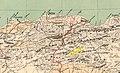 Algérie, extrait carte du commandant Niox, 1884, plaine de la Medjana surlignée.jpg