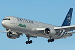 Alitalia Boeing 767-300ER EI-DBP in SkyTeam livery.jpg