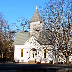 National Register of Historic Places listings in Fentress County, Tennessee - Image: Allardt presbyterian church tn 1