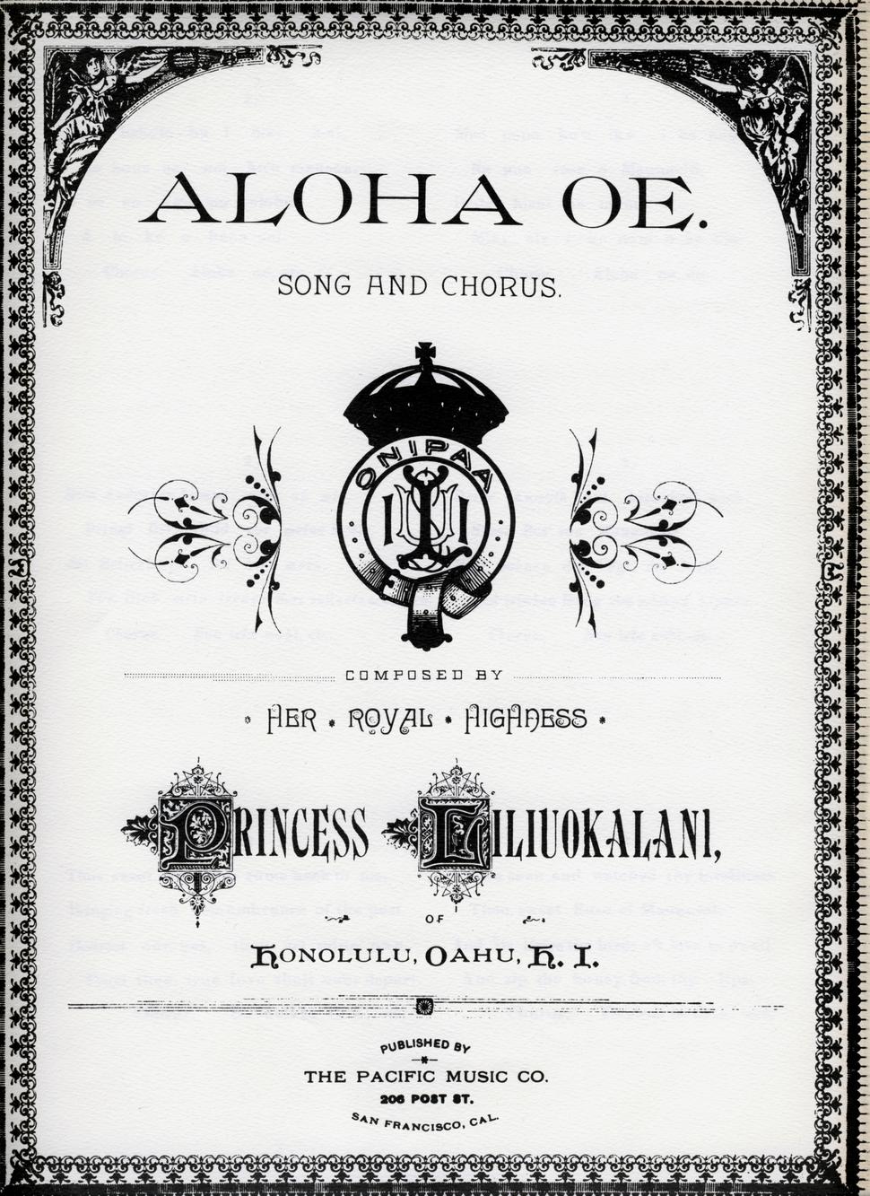 Aloha oe song 01