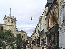 Amboise, rua perto do castelo