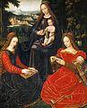 Ambrosius Benson - La Vierge et l'Enfant entre sainte Catherine et Barbe (Louvre).jpg