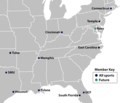 American Athletic Conference Member Locations.png