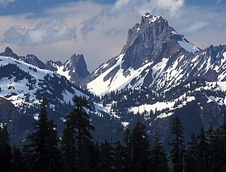 American Border Peak mountain in United States of America
