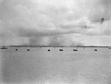 Die Situation vor den australischen Landungen in Labuan.