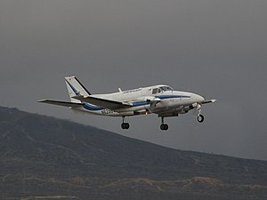 Beechcraft Model 99 - Ameriflight Beech C99 freighter takes off from the Mojave Airport