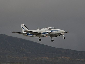 Ameriflight - An Ameriflight Beechcraft Model 99 upon take-off from Mojave Air and Space Port (2009).