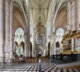 Amiens Cathedral - Image: Amiens Cathedral North Stainedglass Wikimedia Commons