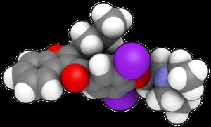 3D (balls) model of Amiodarone Rendered in Qut...