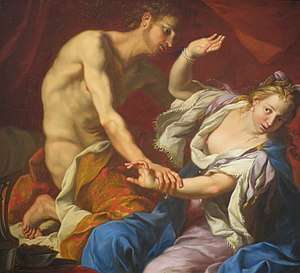Yichud - According to Talmud, Amnon's rape of his half-sister Tamar led King David to extend the prohibition of yichud to unmarried girls. 17th-century painting.