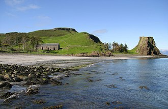 Canna, Scotland - Coroghon, with Compass Hill