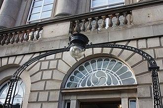 John Kippen Watson - One of Watson's gas lamps on Melville Street Edinburgh (converted to electric use)