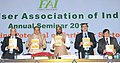Ananth Kumar releasing the publication at the inauguration of the annual seminar of Fertilizer Association of India, in New Delhi. The Minister of State for Chemicals & Fertilizers, Shri Hansraj Gangaram Ahir (2).jpg