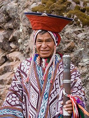 Human rights in Peru - Indigenous man in Peru.