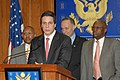 Andrew Cuomo, Edolphus Towns, Alphonso Jackson, and Charles Schumer at a press conference.jpg