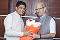 Anil Madhav Dave meeting the Minister of State for Power, Coal, New and Renewable Energy and Mines (Independent Charge), Shri Piyush Goyal to discuss the environmental issues of Power, Coal, MNRE and Mines Sectors.jpg