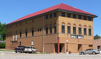 National Register of Historic Places listings in Jefferson County, Nebraska - Image: Anna C. Diller Opera House from SE 1