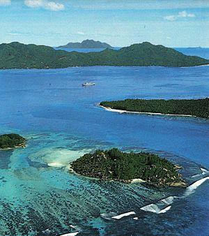 Ste. Anne Island - Image: Anne Marine NP aerial Seychelles