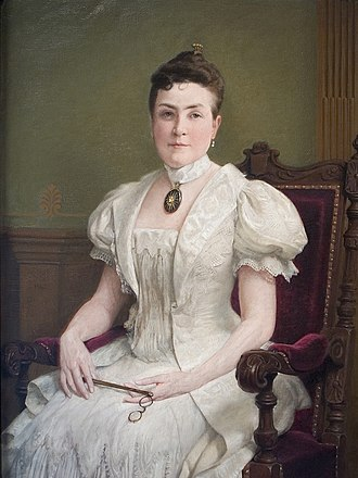 Annmary Brown Memorial - Annmary Brown Hawkins, painted by Seymour Guy