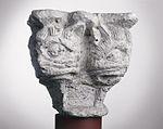 Anonyme toulousain - Chapiteau de colonne simple , Têtes monstrueuses - Musée des Augustins - ME 216 (4).jpg