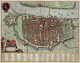 Antwerpen in 1649 door Joan Blaeu.