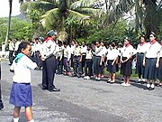 Troop review on 25 April 2005 (Rarotonga)