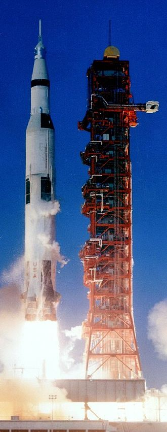 RP-1 - Apollo 8, Saturn V: 810,700 liters of RP-1;  1,311,100 L of LOX